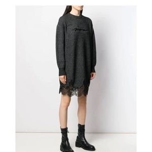 Givenchy scalloped lace sweater dress